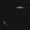Whale and Hockey Stick Galaxies - NGC4656 and NGC4631,                                Arnaud Peel