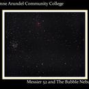 Messier 52 and The Bubble Nebula,                                SuburbanStargazer