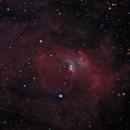 Bubble Nebula in HGB+Ha,                                Aaron Freimark