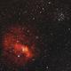 Bubble Nebula in H-alpha and OIII,                                fewayne