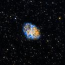 M1 - Crab Nebula - modified Hubble Palette,                                David Andra