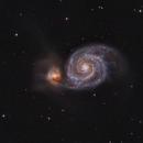 The Whirlpool Galaxy and a close friend: M51A and M51B,                                Bogdan Borz