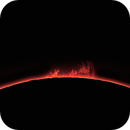 Sun, large solar prominence,  2 Luglio 2020,                                Ennio Rainaldi