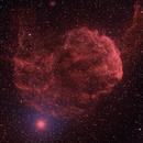 IC443 a Bi-color Lum-Ha/SII picture.,                    Niels V. Christensen