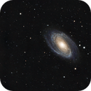 "M81 from The light pollution capital of the world ith Moon ""ON"",                                  JORGE RICARDO"