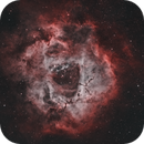 NGC 2237 Rosette HOO Blend,                                  Monkeybird747