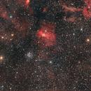 [DrizzleIntegration-See Version B-C] NGC7635 Bubble Nebula and M52,                                Andrea Pistocchini - pisto92