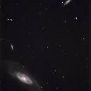 M106 Spiral Galaxy & NGC4217,                                Hata Sung