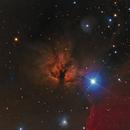 NGC2024 Flame Nebula in Ha - RGB,                                equinoxx