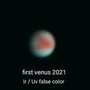 My first venus 2021, IR / UV false color,                                Uwe Meiling