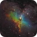 M16 in Hubble Palette,                                Gobart