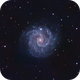 NGC 3184 (UMa) in LRGB - Face-On Round Symmetric Spiral Galaxy,                                Ben Koltenbah