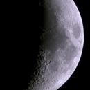 Moon 21.02. 106mmf6 refractor,                    Spacecadet
