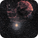 IC443 - Jellyfish Nebula,                                starfield