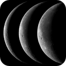 Three phases of the old moon - August 2019,                                Loxley