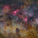Grand champ dans le sagittaire autour de M16 et M17,                                Séb GOZE