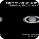 Saturn near opposition on July 10, 2019,                                  JDJ