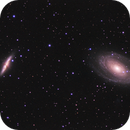 M81 and M82 - RGB (old data reprocessed),                                Rodolphe Goldsztejn