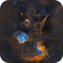 Flaming Star, Tadpoles, Spider and Fly Nebulae,                                Tommy Lease