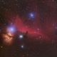 Horsehead and Flame Nebulae,                                stricnine