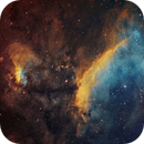IC 4628 - Prawn Nebula in Hubble palette (SHO),                                Ariel Cappelletti