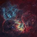 Sh2-132 - The Lion Nebula,                                Yannick Akar
