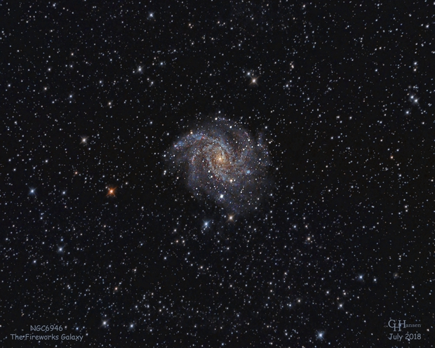 NGC6946 - The Fireworks Galaxy,                                Gordon Hansen