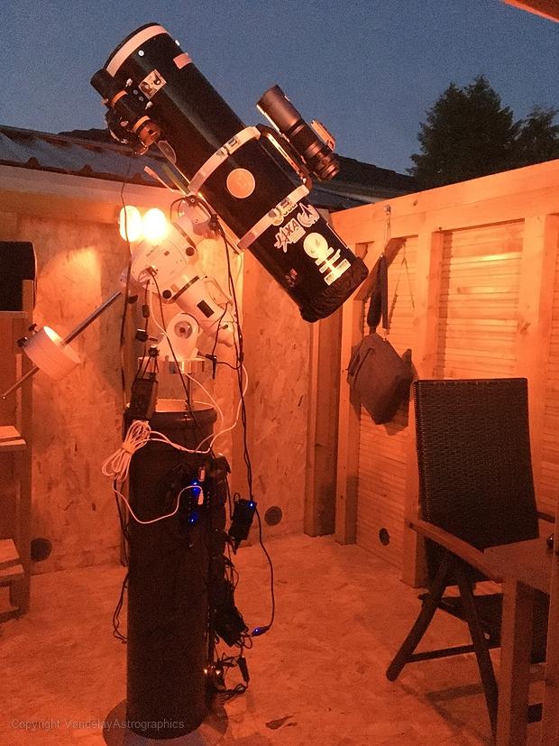 First light of my backyard Observatory,                                George Costanza