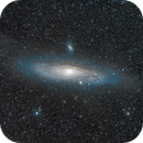 Last light before new setup - Good old M31,                                spacetimepictures