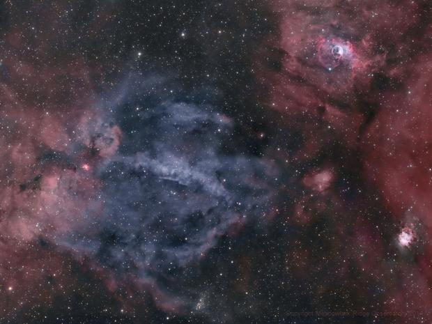 Sharpless 157 - Bubble Nebula region,                                Bruce
