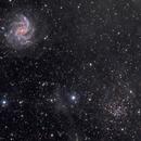 Galaxy, cluster and a bit of dust (NGC 6946, NGC 6939),                                Bogdan Jarzyna