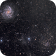 Galaxy, cluster and a bit of dust (NGC 6946, NGC 6939),                                Bogdan Jarzyna
