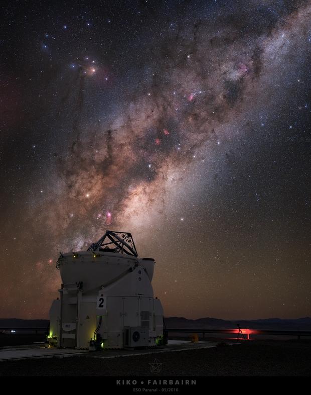 European Southern Observatory (ESO) Secondary Telescope at work!,                                Kiko Fairbairn