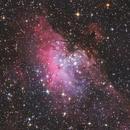 M16 The Eagle Nebula - 2020 Final DSLR Image,                                HaydenAstro