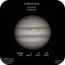 Jupiter with Callisto - 17 March 2016,                                Geof Lewis