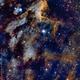 The Pelican Nebula,                                orangemaze