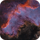 Cygnus Wall NGC 7000 (North is right),                                Rolf Dietrich