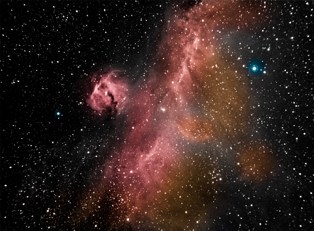 Seagull Nebula in HOO,                    Mike