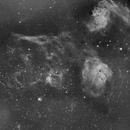 Ha Widefield Auriga - M36, M38, IC410, IC405,                                John Butler