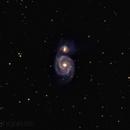 M51 Whirlpool Galaxie,                                Jeff Clayton