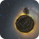 Little Planet 360 ° and the Milky Way,                                Łukasz Żak