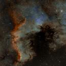 NGC7000 narrowband and RGB,                                Volker Gutsmann