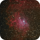 Flaming Star nebula (IC405),                                AstroBadger