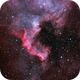 NGC7000 with dual band filter and unmodified DSLR,                                Doc_HighCo