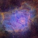 Lagoon Nebula in narrowbands,                                David Nguyen