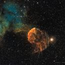 IC 443 - Sii, Ha, Oiii,                                Brad