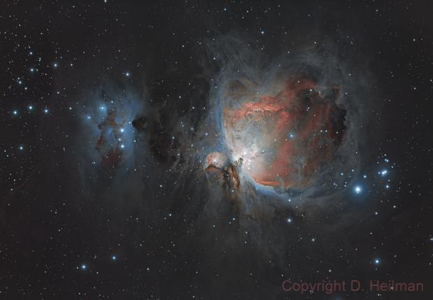 M42 - Orion Nebula and Running Man,                                dheilman