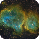 The Soul Nebula, IC 1848 in the Hubble Palette,                                Madratter
