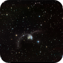 NGC 4038/4039, Antennae Galaxies, LRGB, 21 Apr 2017,                                David Dearden