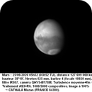 MARS 25 06 2020 5H52 NEWTON 625 MM BARLOW 4 FILTRE IR807 CAMERA QHY5III178M 100% LUC CATHALA,                                CATHALA Luc